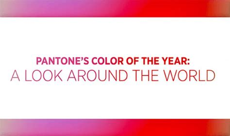 pantones color of the year pantone s color of the year a look around the world infographic visualistan