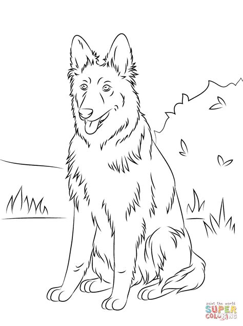 coloring pages of german shepherd german shepherd coloring coloring home