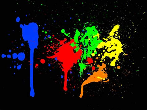 color paint splashes vector graphics freevector