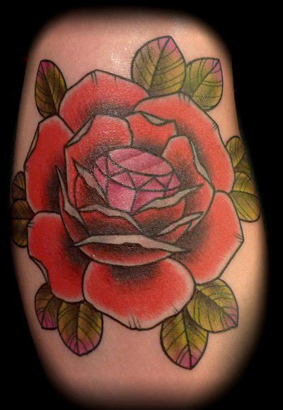 rose with diamond tattoo tattoo3d tattoos
