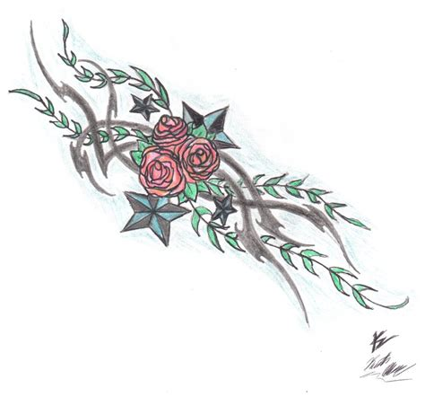 tribal rose tattoo designs tribal cross tattoos with roses www imgkid the