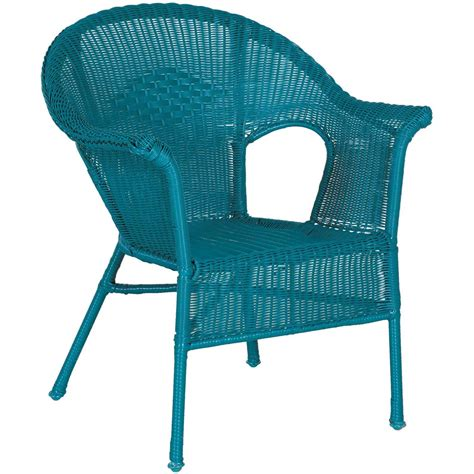 Teal Arm Chair by Resin Wicker Arm Chair In Teal Cw 12282 Teal Chi Wing Afw
