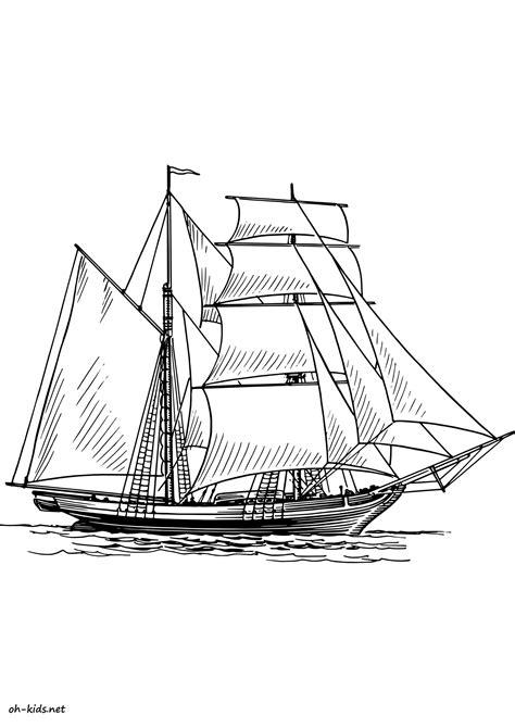 dessin bateau colorier coloriage bateau de guerre oh kids fr
