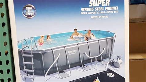 Backyard Pools Costco Costco Bestway Oval Pool W Solar Water Heater And Kit