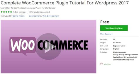 wordpress tutorial for developers udemy coupon complete woocommerce plugin tutorial for