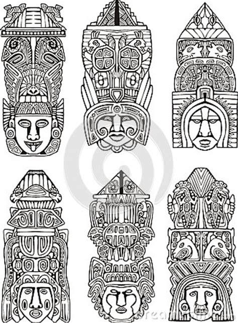 imagenes de totem mayas t 243 tems aztecas imagen de archivo imagen 28009241