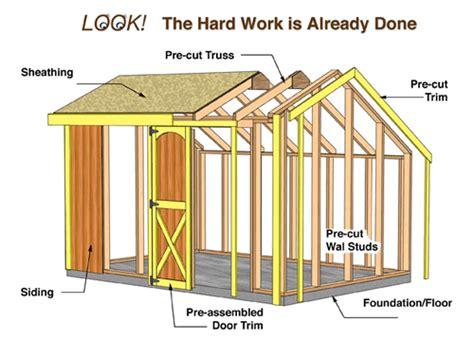 barns aspen  wood storage shed kit