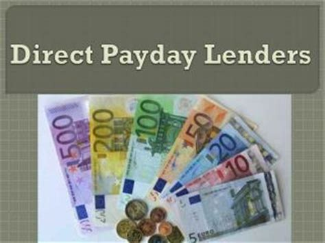 ppt apply only with direct lenders for payday ppt apply only with direct lenders for payday loans in