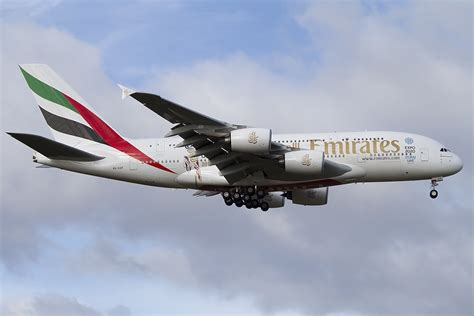 emirates germany emirates a6 eef airbus a380 861 08 02 2015 fra