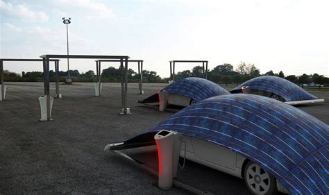 Car Cover Canopy V Tent Solar Panel Parking System By Hakan Gursu