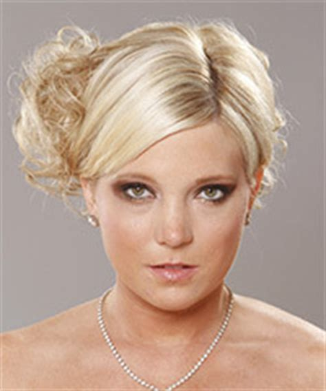 Wedding Hairstyles Side Parting by Side Parting Curly Wedding Updo Knot For