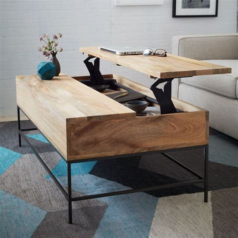 West Elm Rustic Storage Coffee Table Rustic Storage Coffee Table Basically Beautiful Furniture Storage Organizing