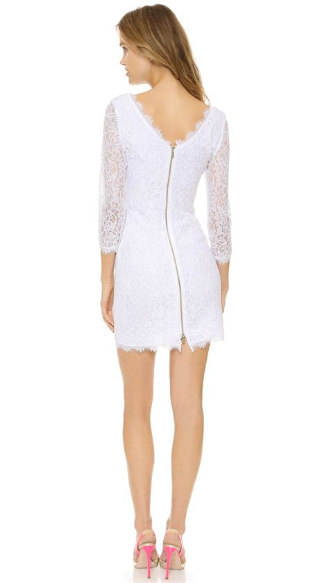 30580 Lace Dress White diane furstenberg zarita lace dress white in white lyst