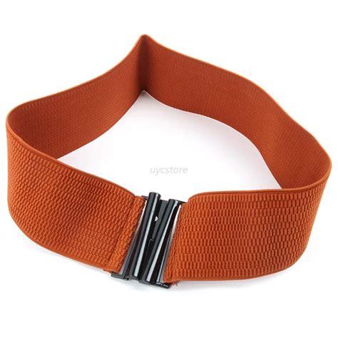 womens wide elastic stretch corset cinch waistband waist