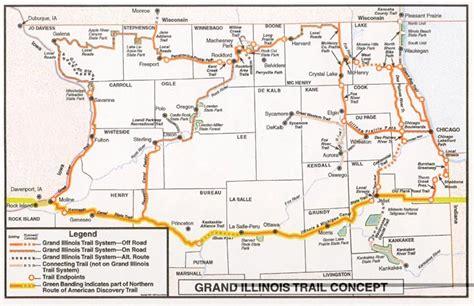 grand illinois map the grand illinois trail map trailjane