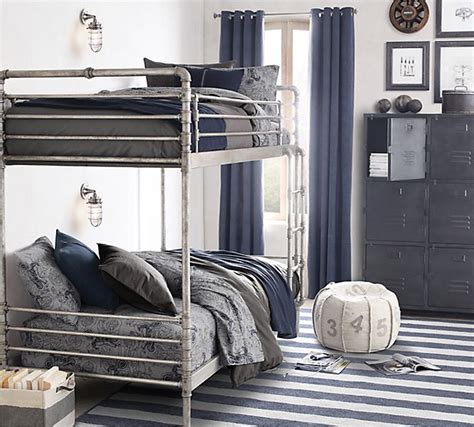 Industrial Steel Pipe Bunk Bed 1 149 Nursery Eye Bunk Beds Restoration Hardware