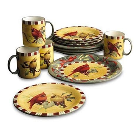 christmas cardinal dinnerware dishes on sale