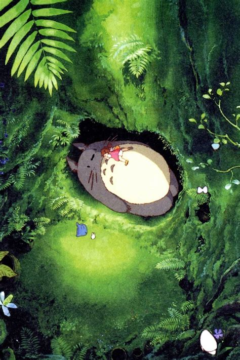 fonds decran hayao miyazaki mon voisin totoro endormir