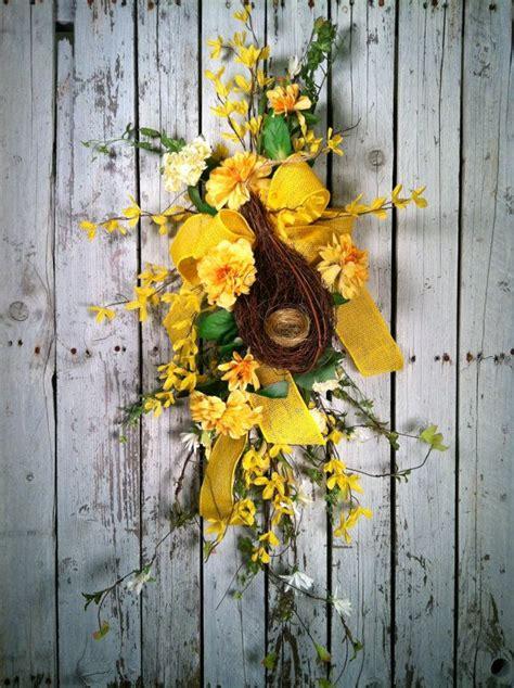 twig door swags forsythia door swag swags pinterest door forsythia spring door swag yellow flower door by