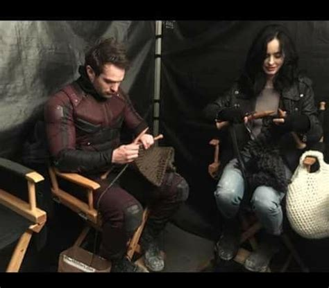 I Heard Love Is Blind Jessica Jones Knitting With Daredevil What A Time To Be