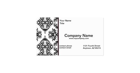 Part Time Office Near Me by Black White Damask Business Modern Card Standard
