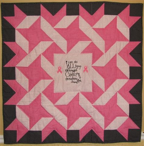 Breast Cancer Quilt by Quilting Archives Fabricmomfabricmom