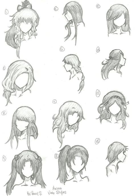 Anime Face Shape Drawings 25  Beautiful Long Hair Drawing Ideas On Pinterest   Hair Sketch
