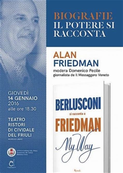 libro my way from the alan friedman presenter 224 il suo ultimo libro my way a cividale del friuli beppeblog