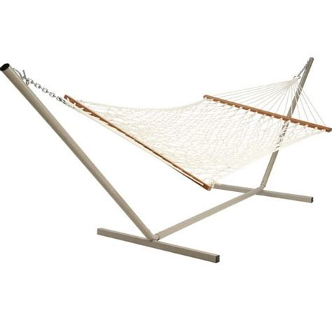 Rope Hammock With Stand Xl Size Cotton Rope Hammock With 15 Ft Steel Stand Buy