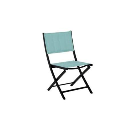 folding patio chairs home depot martha stewart living franklin park blue padded folding