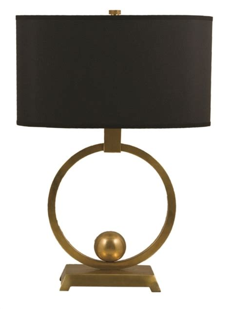 Brass Table L With Black Shade by B219l Brass Circle Table L With Oval Shade