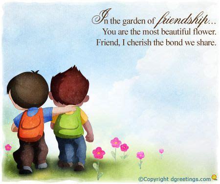 cherish  bond  share friendship day wishes childhood friends quotes happy birthday