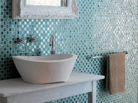glass tile for bathrooms ideas two great bathroom tile choices for the contemporary