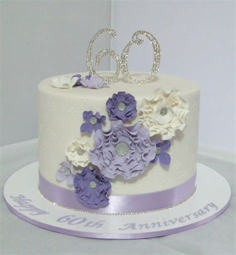 60th Wedding Anniversary Cake   cake by Cake A Chance On
