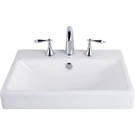 white drop in sink farmhouse white drop in rectangular bathroom