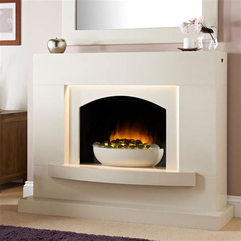 Electric Fireplace Suite Lombardia White Electric Fireplace Suite