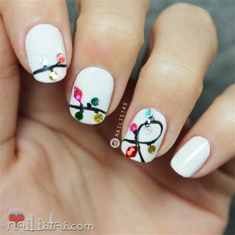 imagenes de uñas decoradas navideñas 2015 dise 241 os de u 241 as cortas navide 241 as