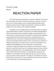 life of steve jobs reaction paper on rosemarie q castillo bsa 4b reaction paper on the job