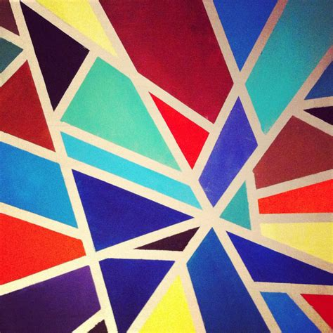 geometric tape painting gettin crafty with natalie