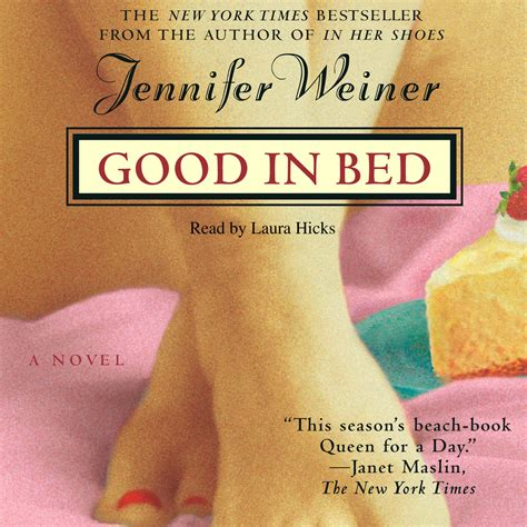 good in bed good in bed audiobook by jennifer weiner laura hicks