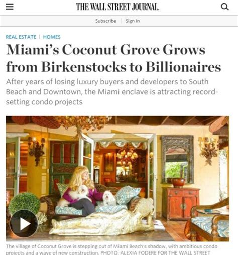 wall street journal real estate section wall street journal real estate section coconut grove