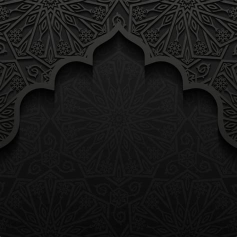 pattern photoshop islamic islamic mosque with black background vector 07 download