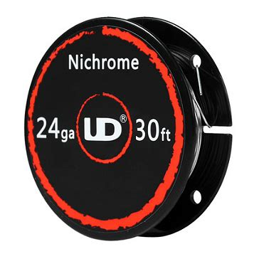 Vape Coil Nichrome Ni80 24 vaping accessories ud nichrome 24 wire 30ft 9