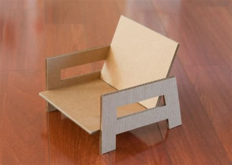 chair template made out of cards sweet and easy diy cardboard chair for a room