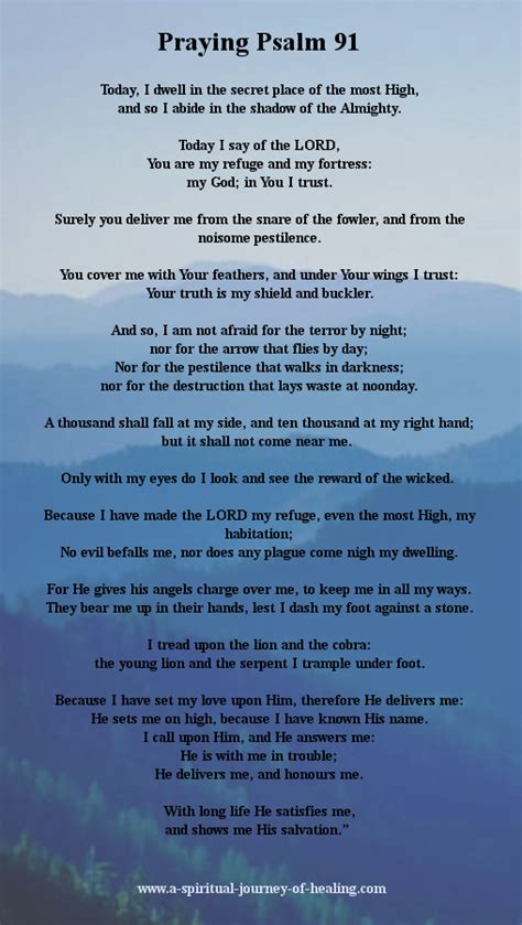 most comforting psalms psalm 91 adapted to be said as a prayer for strength