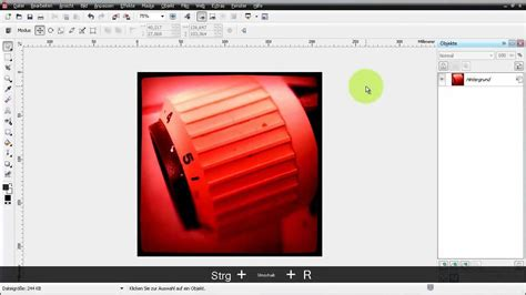 tutorial banner coreldraw x5 lineale und hilfslinien in corel photo paint x5