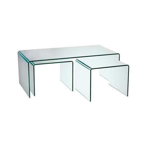 Glass Coffee Table Puro Glass Coffee Table Set Dwell