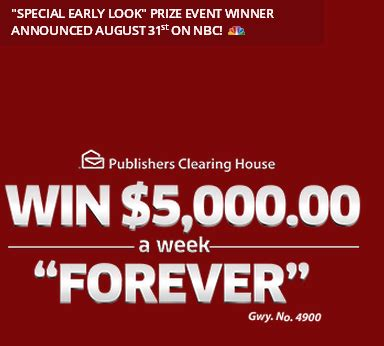 Pch 5000 Forever - pch win 5 000 a week forever by august 24 2015 giveawayus com