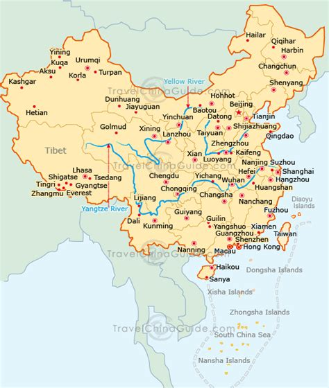 map of china cities china map with major cities beijing china