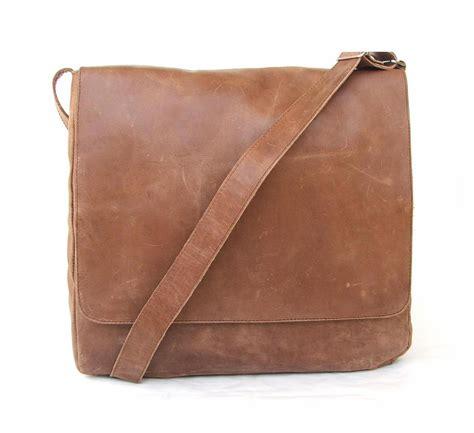 brown leather messenger bag messenger bag mens unisex brown leather satchel by abizema